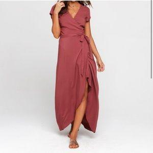 LSpace Goa Wrap Front Currant Dress